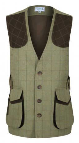 Kensington 100% Wool Tweed Shooting Gilet Waistcoat Traditional Tailored Quality